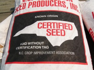 bag of certified seed